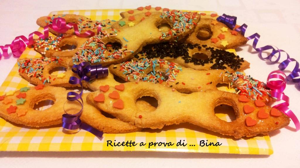 Maschere di Carnevale di pasta frolla - ricetta dolce