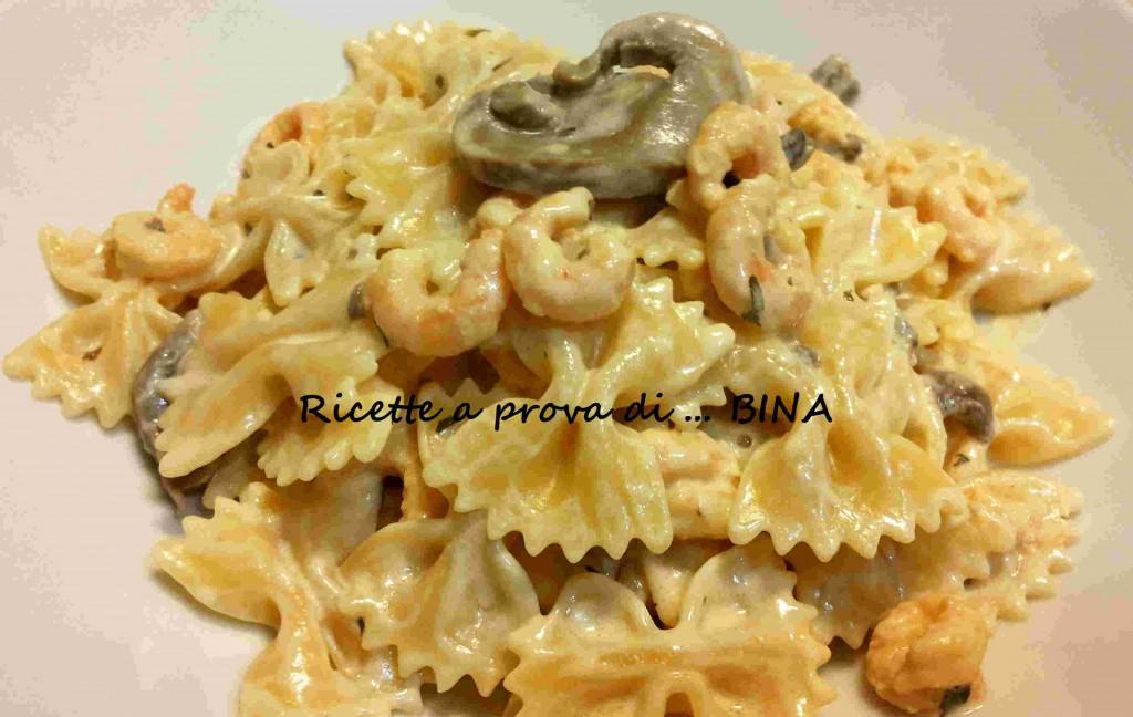 Pasta gamberetti e funghi - ricetta veloce
