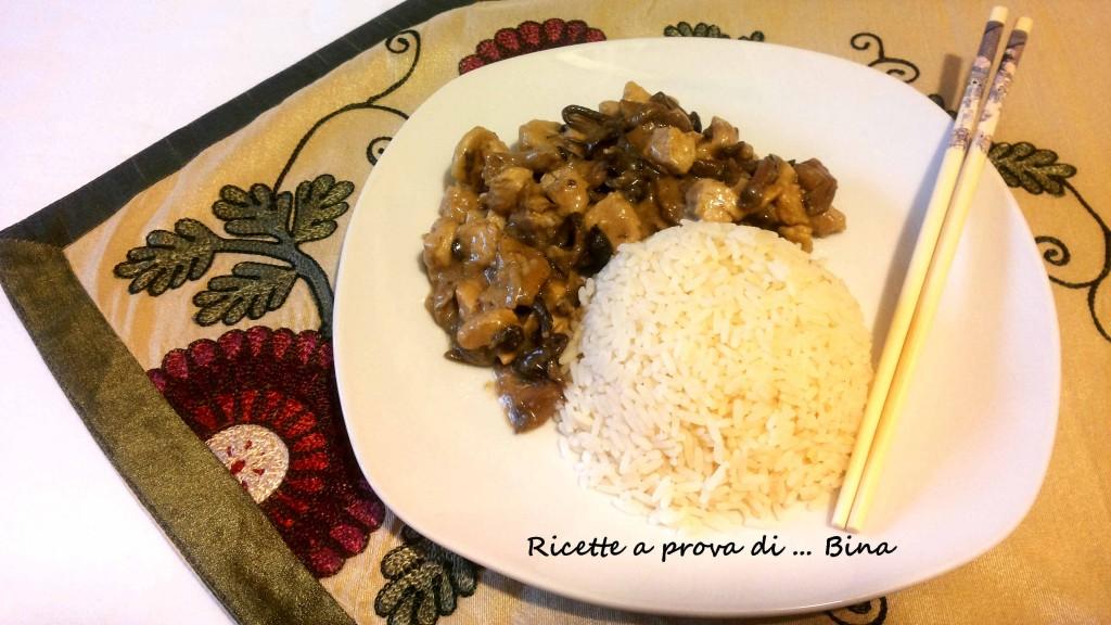 Pollo con funghi e riso - ricetta piatto unico