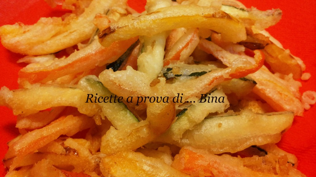 Tempura di verdure ricetta vegetariana