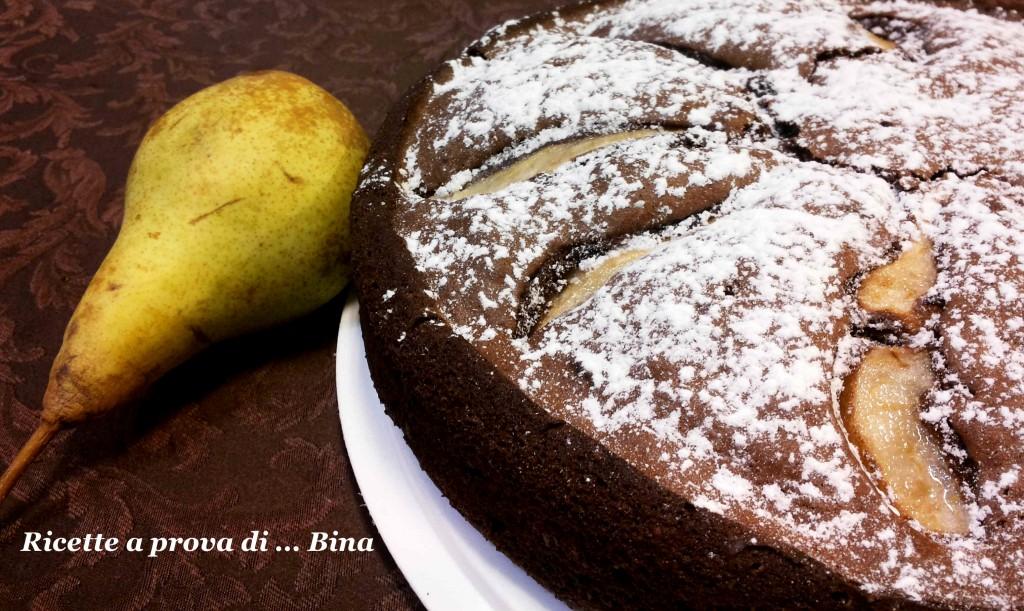 Torta pere e cioccolato - ricetta senza latte e burro