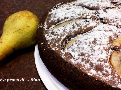 Torta pere e cioccolato – ricetta senza latte e burro
