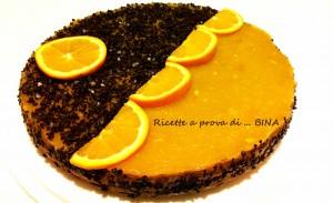 Cheesecake arancia e cioccolato - ricetta senza cottura