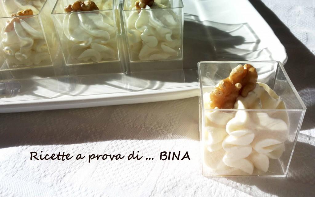 Mousse al gorgonzola - ricetta finger food