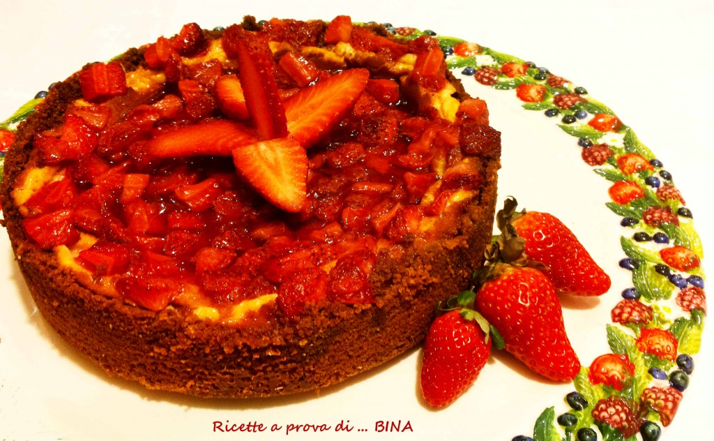 New York Cheesecake alle fragole - ricetta con cottura