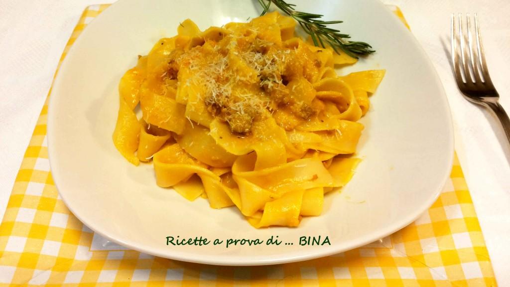 Pasta al sugo di zucca, ricetta primo piatto gustoso - Ricette a prova di Bina