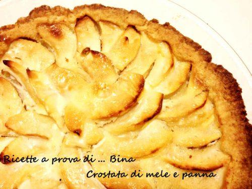 Crostata di mele e panna