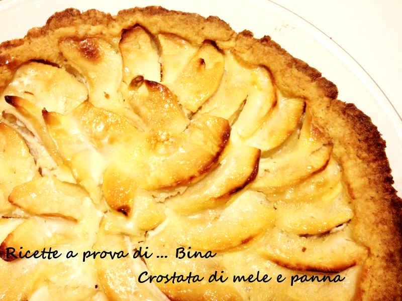 Crostata di mele e panna - Ricette a prova di Bina