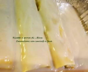 Cannelloni con carciofi e fave - ricetta primaverile