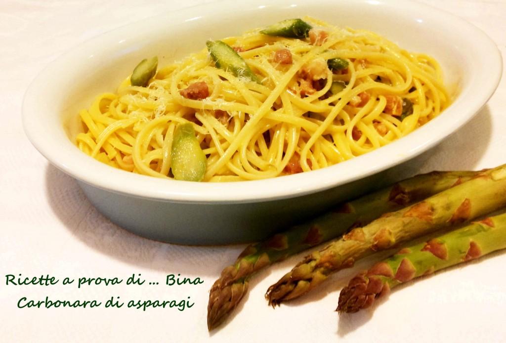 Carbonara di asparagi - ricetta primo piatto semplice