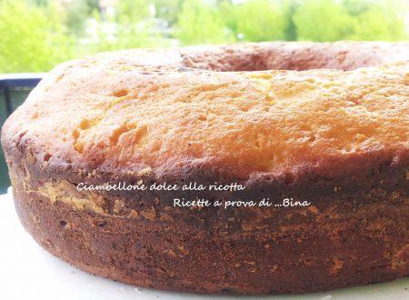 Ciambellone alla ricotta ricetta dolce