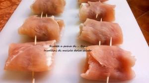 Involtini di maiale dolce salato -ricetta secondo piatto