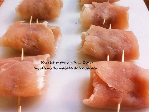 Involtini di maiale dolce salato