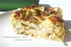 Lasagne ai carciofi - ricetta primo piatto gustoso