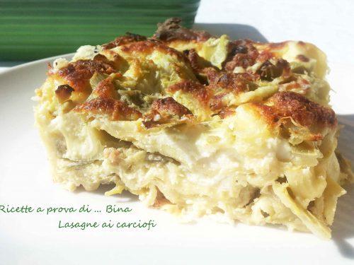 Lasagne ai carciofi ricetta primo piatto