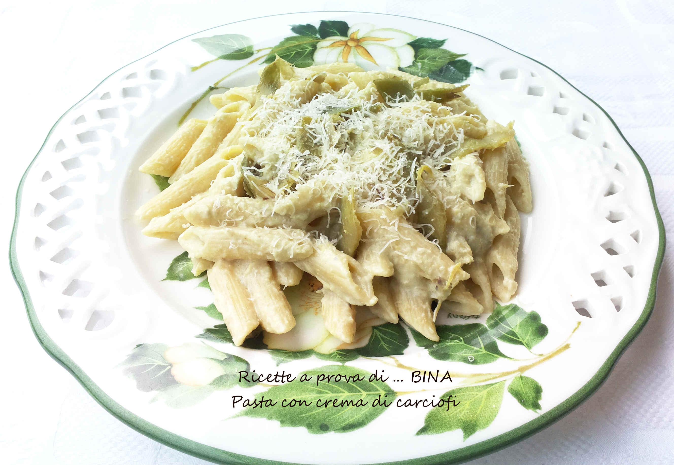 Pasta con crema di carciofi - ricetta primo piatto gustoso