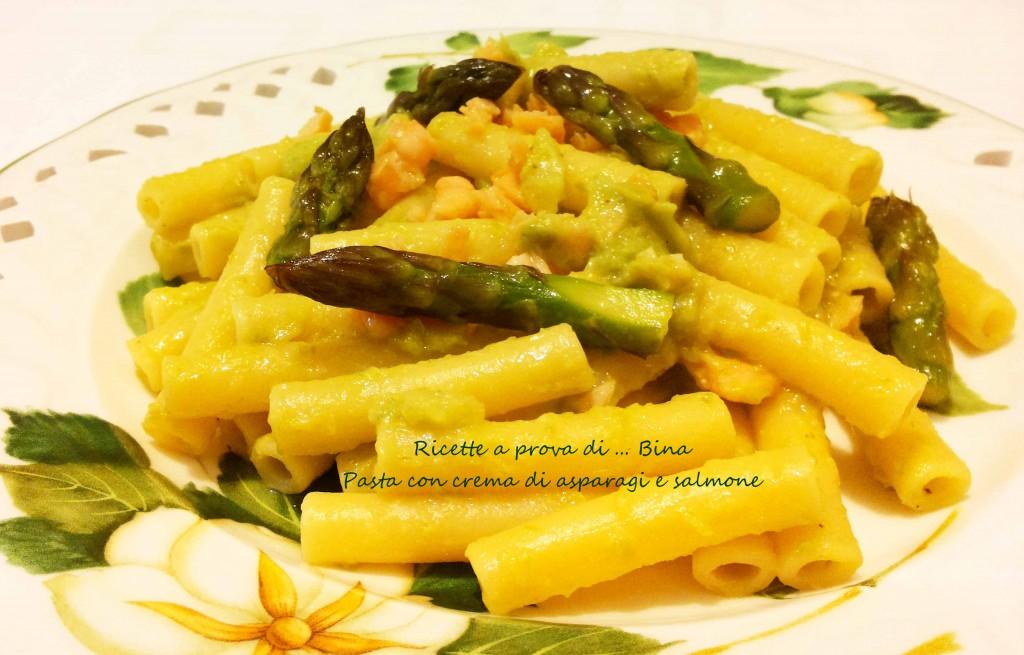 Pasta con crema di asparagi e salmone - ricetta primo piatto primaverile