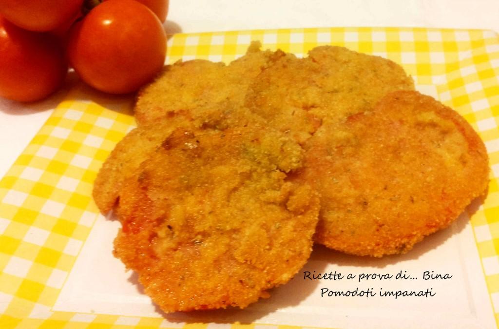 Pomodori cuori di bue impanati - ricetta vegetariana