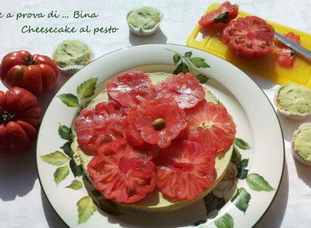 Cheesecake salata al pesto e pomodori