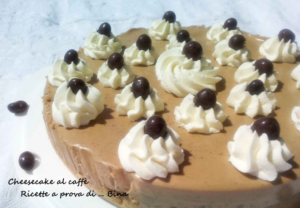 Cheesecake al caffè - ricetta dolce senza cottura