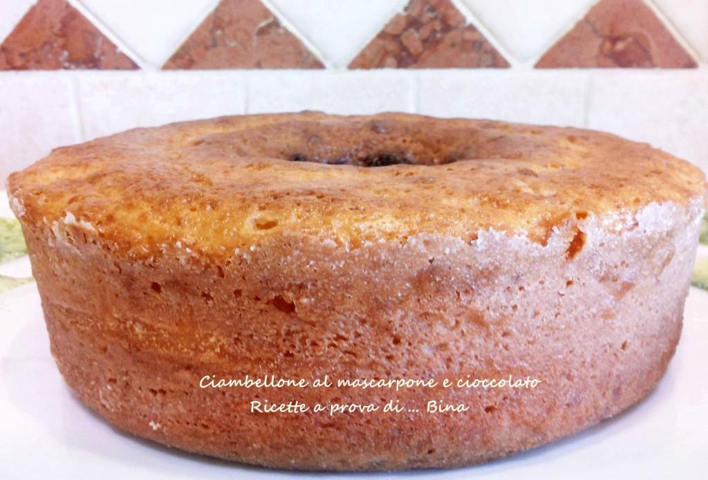 Ciambellone al mascarpone e cioccolato - ricetta tradizionale o con fornetto versilia