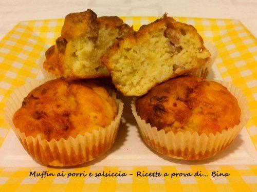 Muffin ai porri e salsiccia