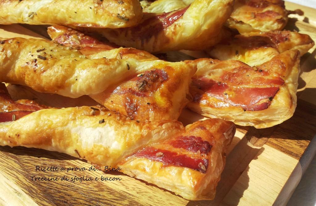 Treccine di sfoglia e bacon
