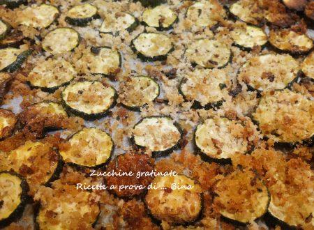 Zucchine gratinate ricetta veloce