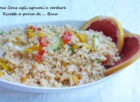 Cous cous agli agrumi e verdure
