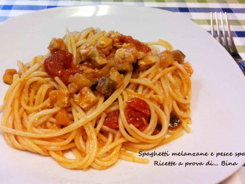 Spaghetti melanzane e pesce spada