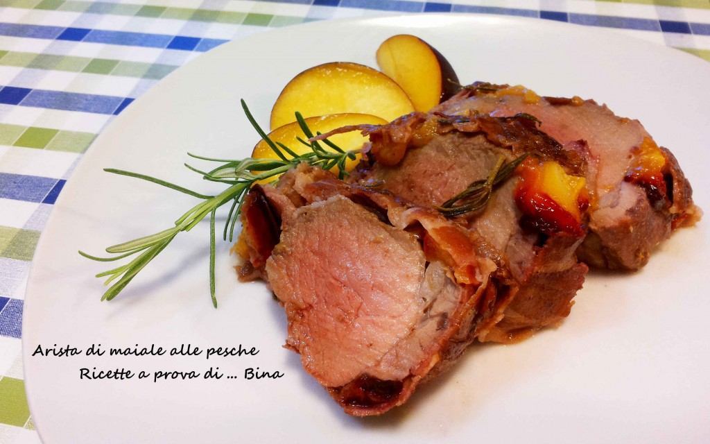 Arista di maiale alle pesche - ricette a prova di bina