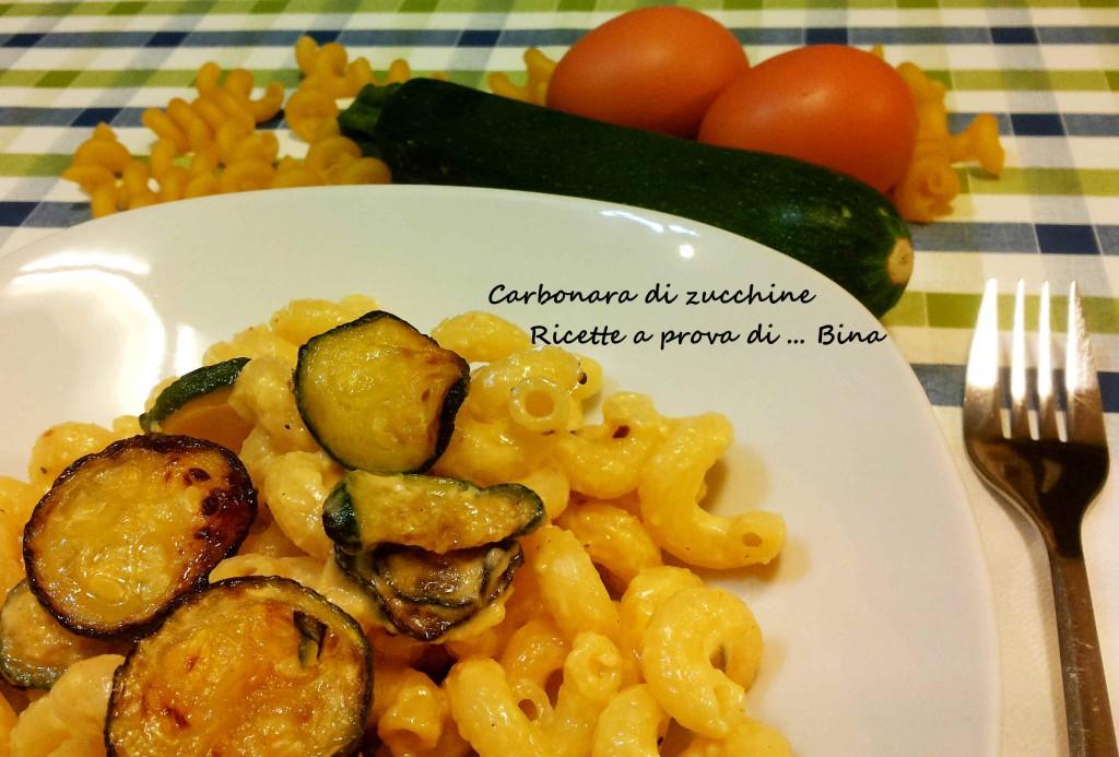Carbonara di zucchine - ricetta primo piatto veloce
