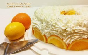 Ciambellone agli agrumi con crema all'arancia