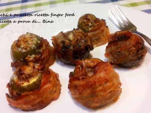 Fichi e pancetta ricetta finger food