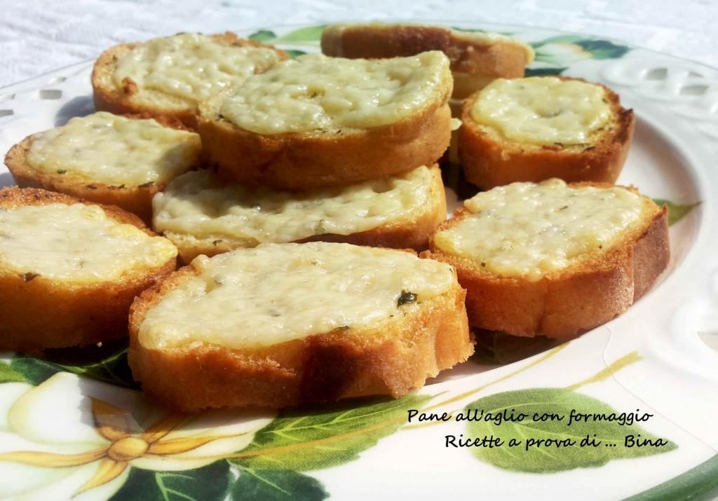 Pane all'aglio - garlic bread with cheese - ricetta sfiziosa veloce