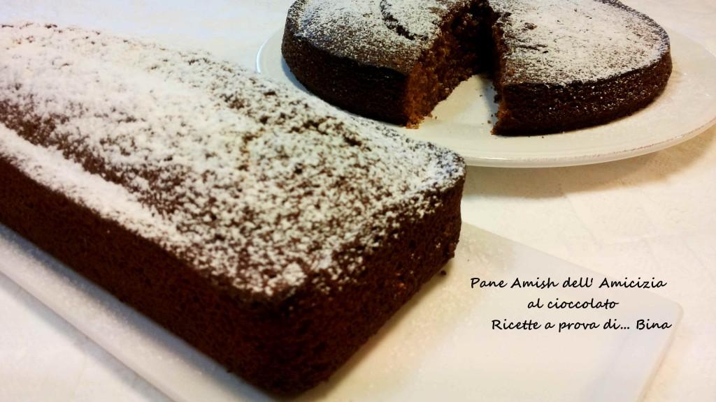 Pane Amish dell' Amicizia al cioccolato Ricette a prova di... Bina