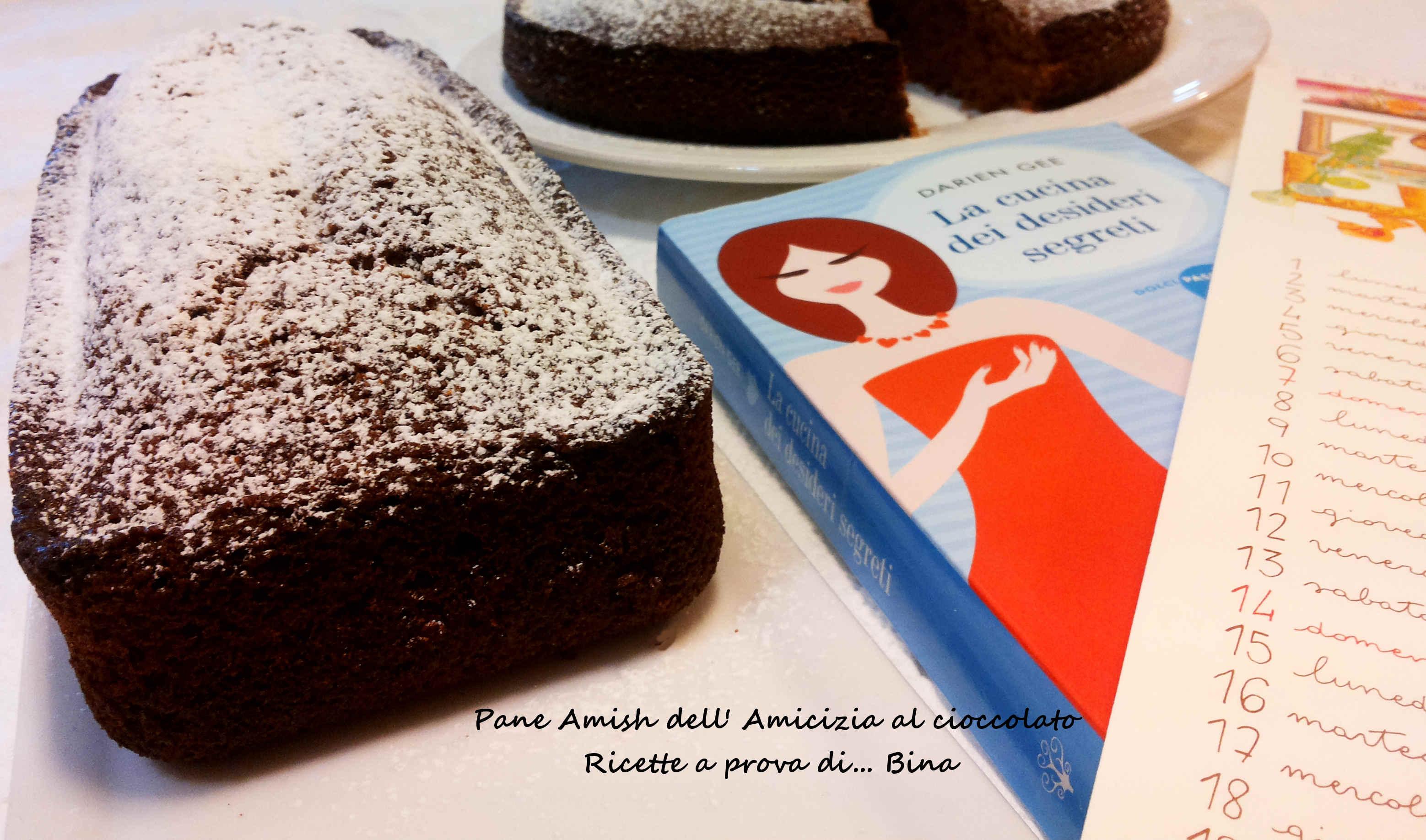 Pane Amish dell'Amicizia al cioccolato