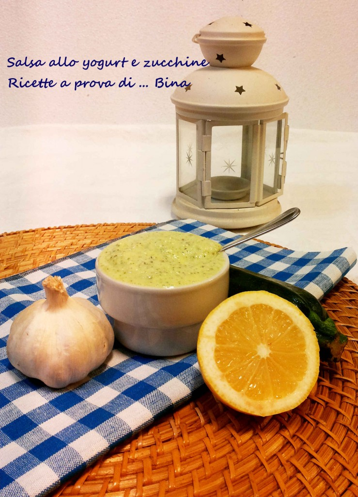 Salsa allo yogurt e zucchine - ricetta greca rivisitata