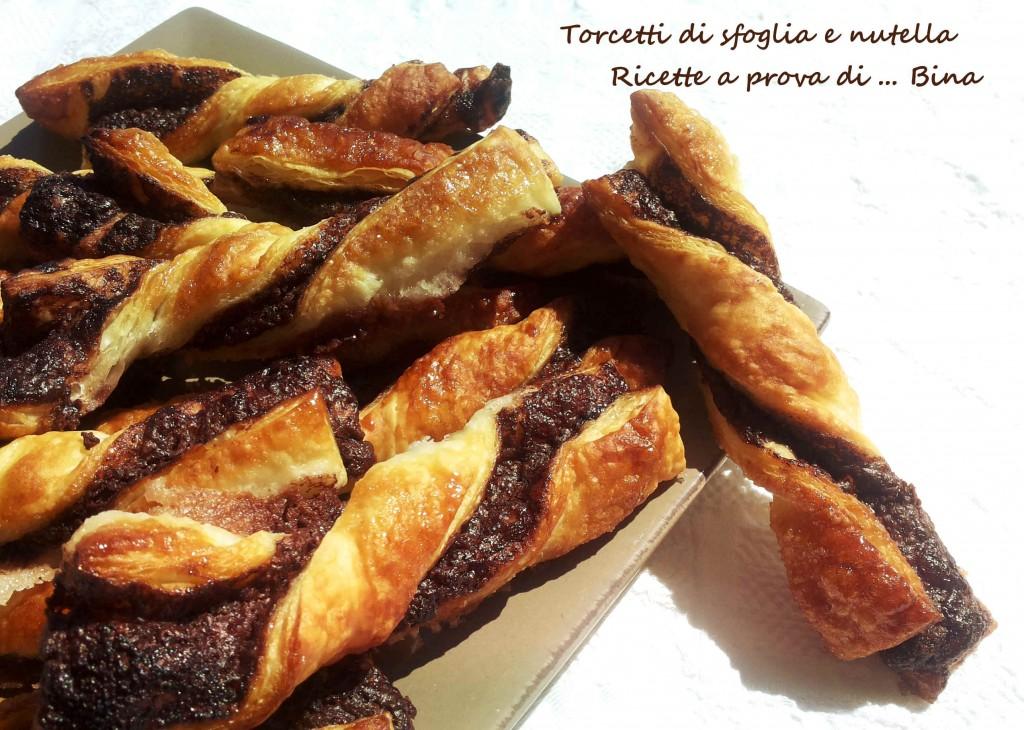 Torcetti di sfoglia e nutella - ricetta dolce veloce