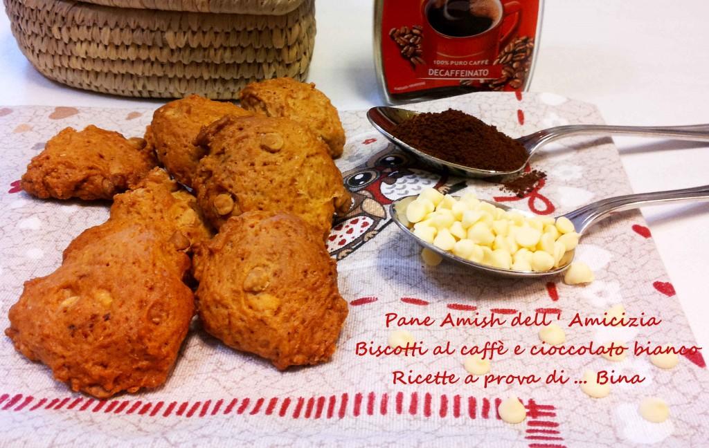 Biscotti al caffè e cioccolato bianco - Pane Amish dell'amicizia