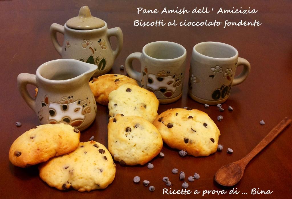 Pane Amish dell'amicizia - Biscotti al cioccolato fondente