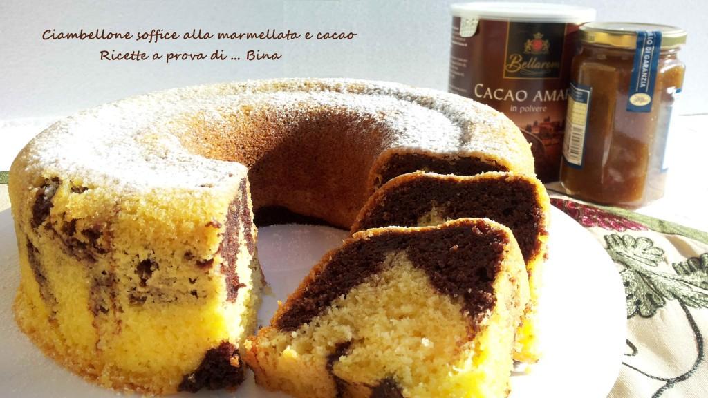 Ciambellone soffice alla marmellata e cacao