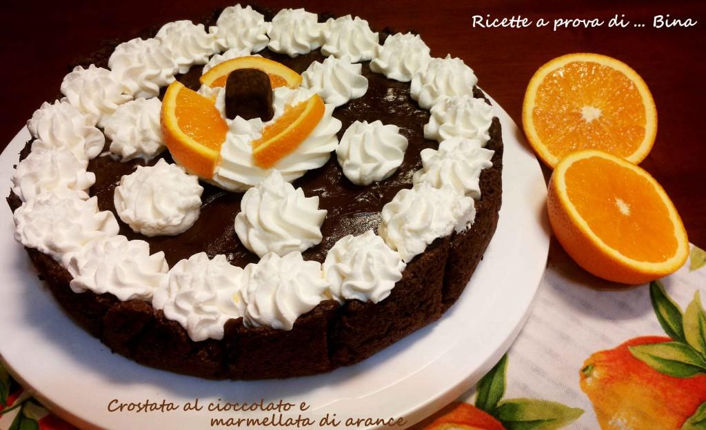 Crostata al cioccolato e marmellata di arance - ricette a prova di Bina
