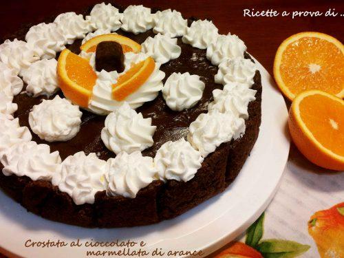 Crostata al cioccolato e marmellata di arance