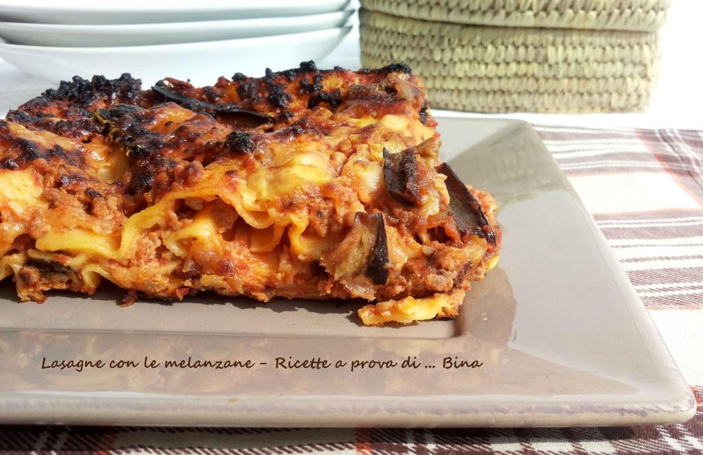 lasagne con le melanzane