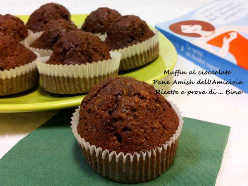 Pane Amish dell Amicizia Muffin al cioccolato