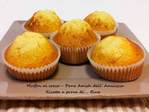 Pane Amish dell Amicizia Muffin al cocco