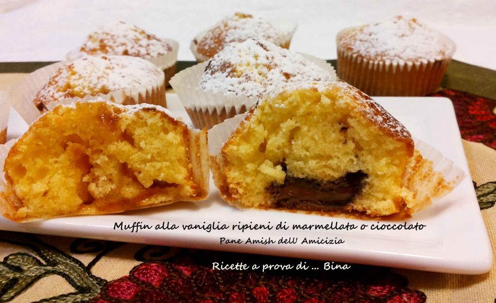 Muffin alla vaniglia Pane Amish dell'Amicizia