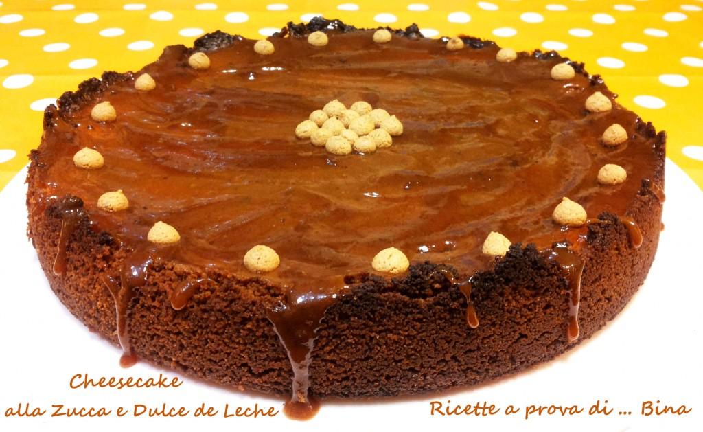 Cheesecake alla zucca e dulce de leche - ricette a prova di ... Bina