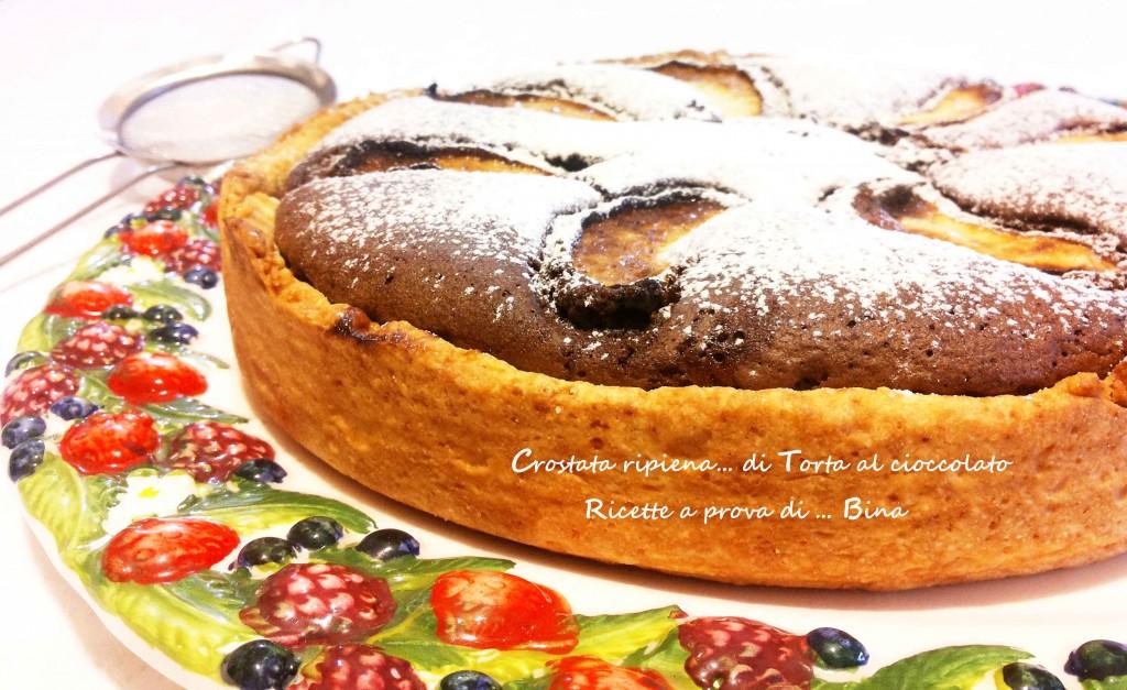 Crostata ripiena di torta al cioccolato - ricette a prova di Bina